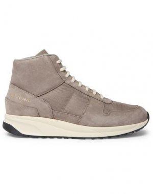 Высокие кеды и кроссовки COMMON PROJECTS. Цвет: серый