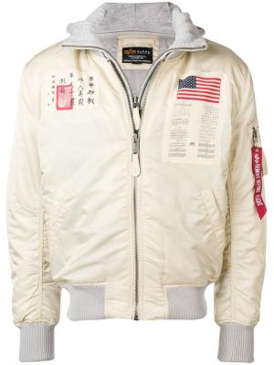 Astronaut bomber jacket Alpha Industries. Цвет: нейтральные цвета