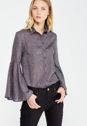 Блуза LOST INK SPARKLY BELL SLEEVE SHIRT. Цвет: серебряный