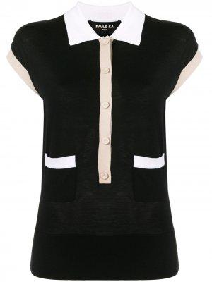 Рубашка поло с контрастной окантовкой Paule Ka. Цвет: черный