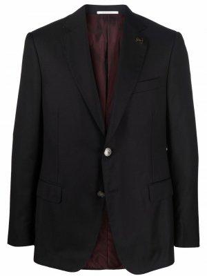 Однобортный пиджак узкого кроя Pal Zileri. Цвет: черный
