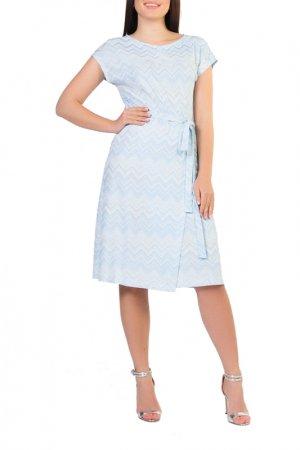 Платье Forus. Цвет: белый, голубой