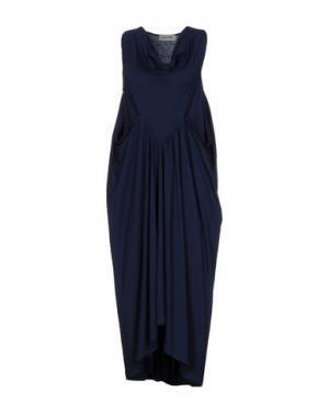 Платье длиной 3/4 BIONEUMA NATURAL FASHION. Цвет: темно-синий