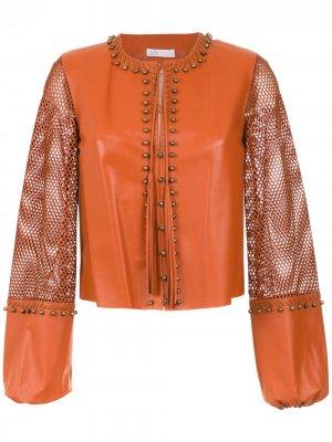 Кожаная куртка Nk. Цвет: коричневый