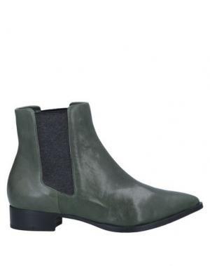 Полусапоги и высокие ботинки ALBERTO FERMANI. Цвет: зеленый-милитари