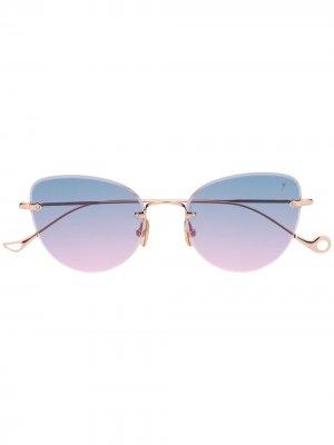 Солнцезащитные очки Ambre с эффектом градиента Eyepetizer. Цвет: золотистый