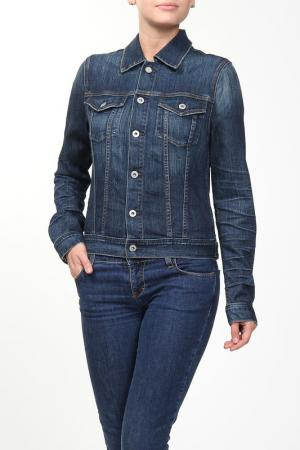 Куртка джинсовая Ag. Цвет: синий