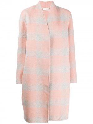 Пальто оверсайз в клетку By Malene Birger. Цвет: розовый