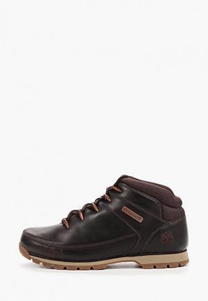Ботинки Timberland Euro Sprint Hiker BLACK COFFEE. Цвет: коричневый