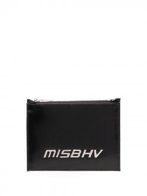 Картхолдер с металлическим логотипом MISBHV. Цвет: черный