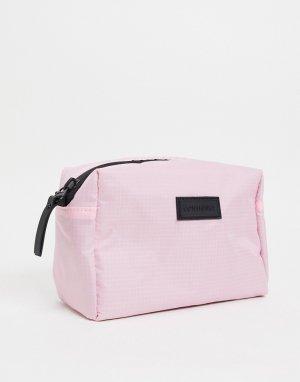 Розовый несессер на молнии -Розовый цвет Consigned