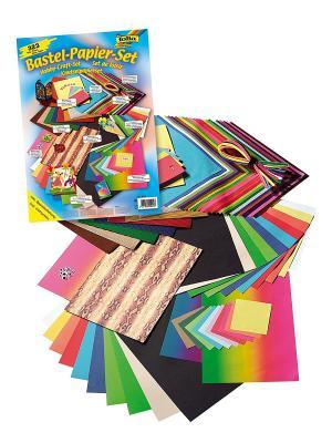 Набор для детского творчества КРУГЛЫЙ ГОД FOLIA. Цвет: синий, зеленый, красный, желтый, белый, черный