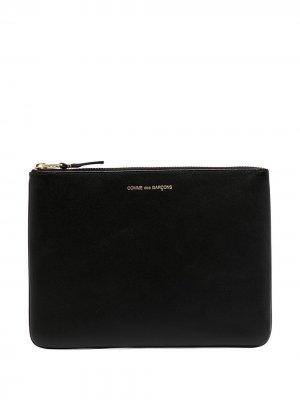 Клатч с логотипом Comme Des Garçons Wallet. Цвет: черный