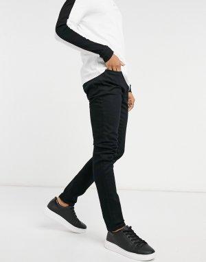 Черные эластичные джинсы зауженного кроя из смесового органического хлопка -Черный цвет Topman