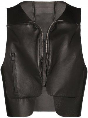Кожаный жилет 1017 ALYX 9SM. Цвет: черный