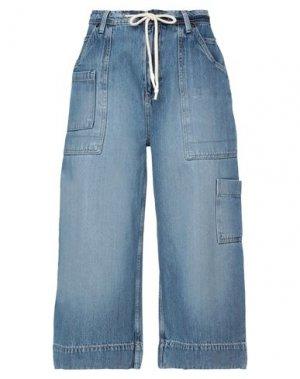 Укороченные джинсы ONE TEASPOON. Цвет: синий
