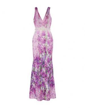 Длинное платье BADGLEY MISCHKA. Цвет: фиолетовый