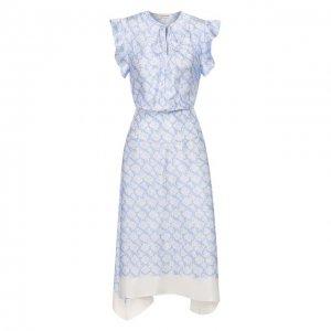 Платье из вискозы By Malene Birger. Цвет: синий