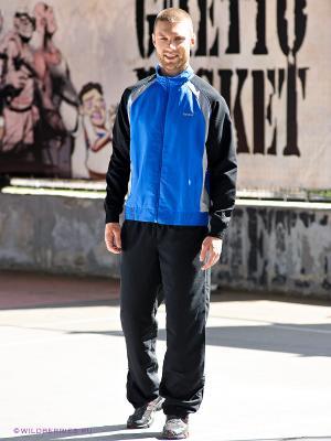 Спортивный костюм Reebok. Цвет: черный, синий, серый