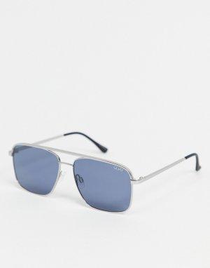 Солнцезащитные очки с квадратными линзами Quay Poster Boy-Голубой Australia