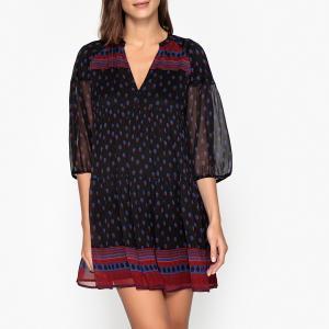 Платье короткое широкого покроя BAILEY BA&SH. Цвет: черный