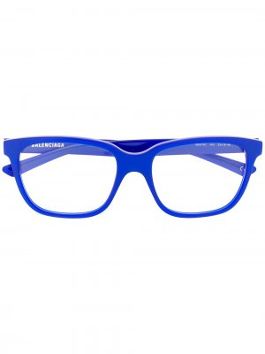 BB0078O rectangular-frame glasses Balenciaga Eyewear. Цвет: синий