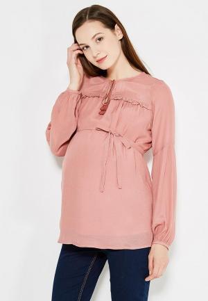 Блуза Mamalicious. Цвет: розовый