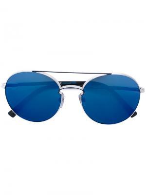 Классические солнцезащитные очки-авиаторы Valentino Eyewear. Цвет: синий