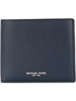 Классический бумажник Michael Kors. Цвет: синий