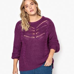 Пуловер из плотного трикотажа CASTALUNA. Цвет: красный темный,фиолетовый