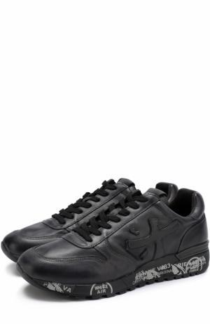 Кожаные кроссовки Mick на шнуровке Premiata. Цвет: чёрный