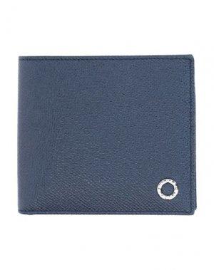 Бумажник BULGARI. Цвет: синий