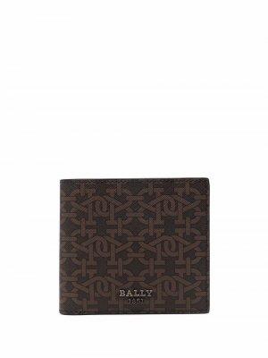 Бумажник с логотипом Bally. Цвет: коричневый