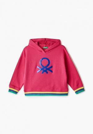 Худи United Colors of Benetton. Цвет: розовый