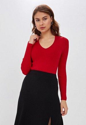 Пуловер MaryTes. Цвет: красный