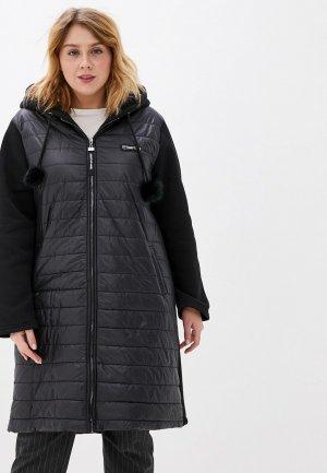 Куртка утепленная Milanika. Цвет: черный
