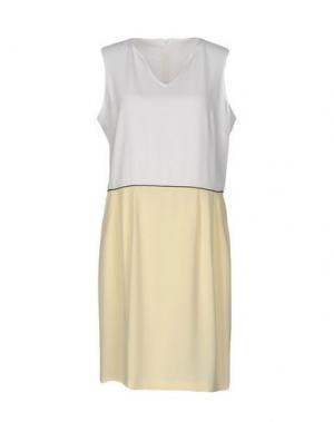 Короткое платье AXARA PARIS. Цвет: светло-желтый