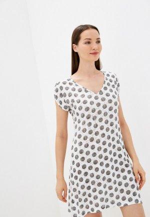 Платье пляжное Оддис. Цвет: белый
