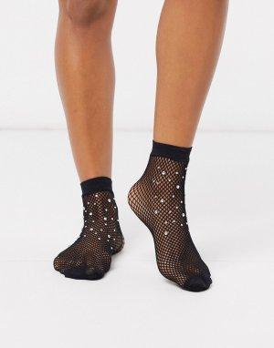 Черные сетчатые носки -Черный Gipsy