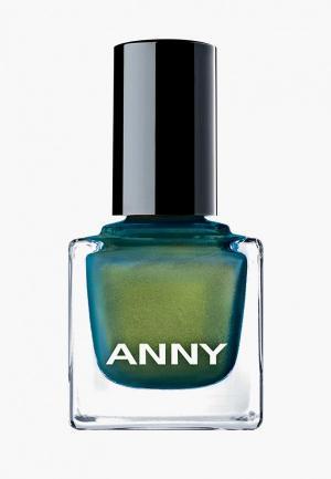 Лак для ногтей Anny тон 370.10 голографик золото с зеленью. Цвет: зеленый