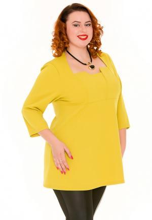 Блуза Luxury Plus. Цвет: желтый