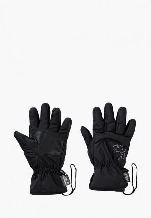 Перчатки Jack Wolfskin EASY ENTRY GLOVE KIDS. Цвет: черный
