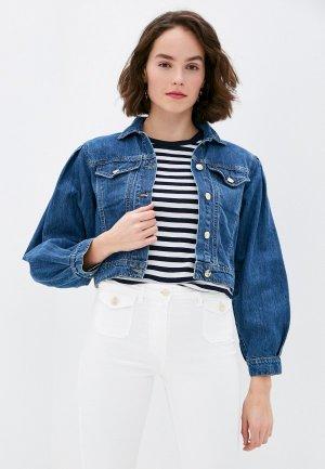 Куртка джинсовая Rinascimento. Цвет: синий