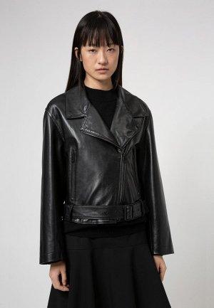Куртка кожаная Hugo Laferi. Цвет: черный