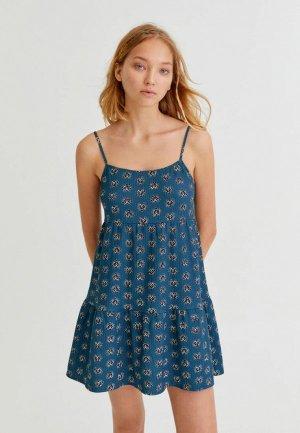 Сарафан Pull&Bear. Цвет: синий