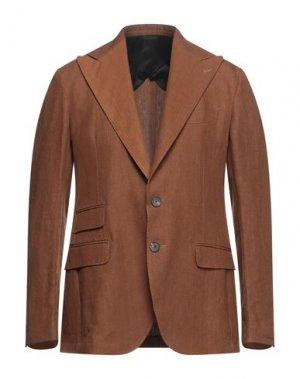 Пиджак DOPPIAA. Цвет: желто-коричневый