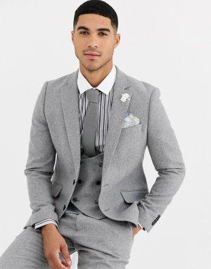 Приталенный пиджак с добавлением шерсти Winter Wedding-Серый Gianni Feraud
