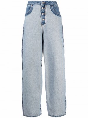 High-waisted wide leg jeans MM6 Maison Margiela. Цвет: синий
