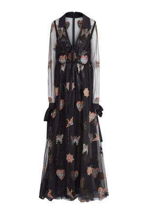 Платье ELIE SAAB. Цвет: черный
