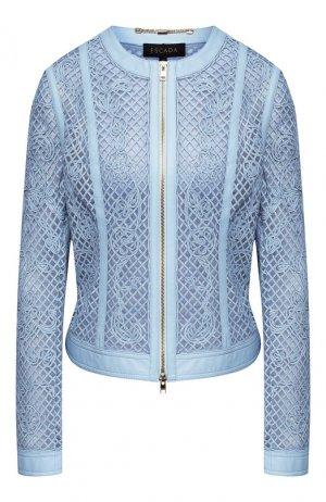 Кожаная куртка Escada. Цвет: голубой